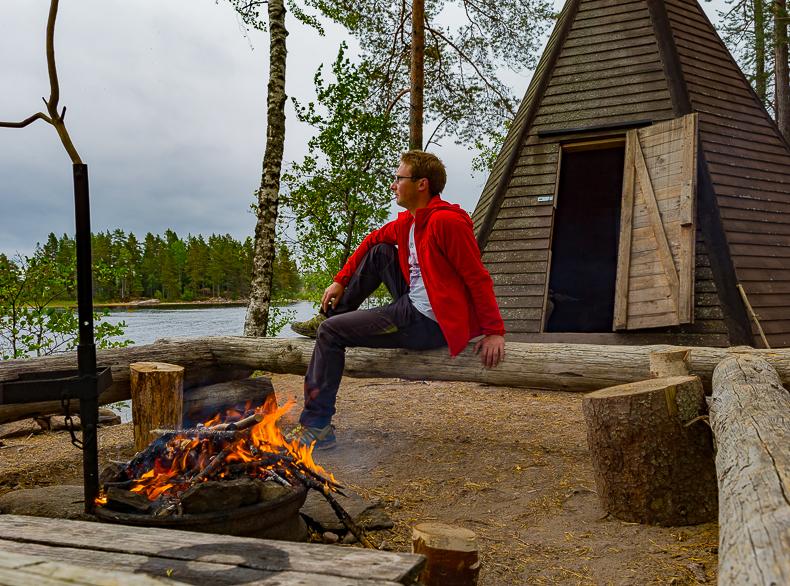 Outdoorküche Klappbar Norden : Urlaub im eigenen tipi schweden see stora bör