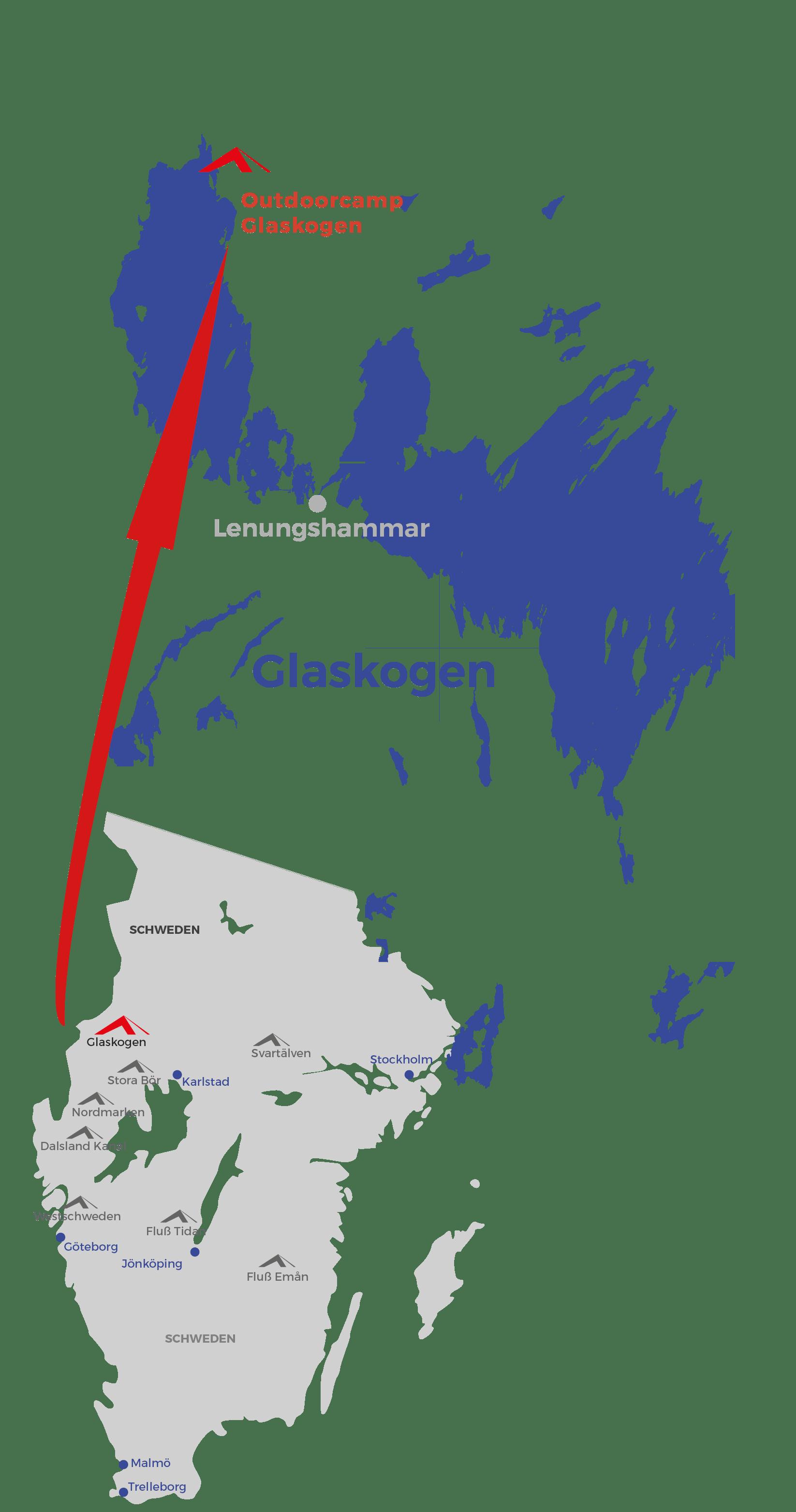 Schweden Karte Deutsch.Trekkingtour Auf Eigene Faust Schweden Glaskogen