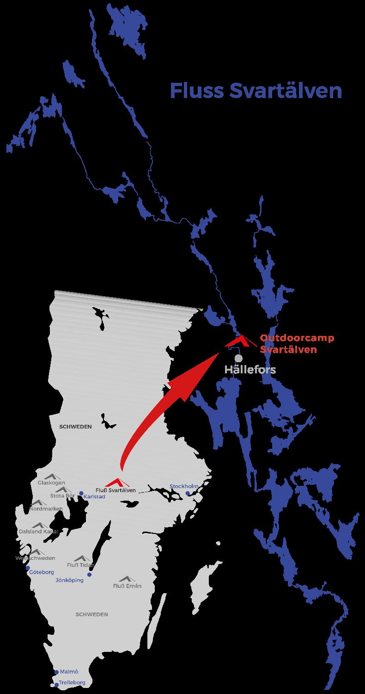 Schweden Karte Regionen.Kanutour Auf Eigene Faust Schweden Fluss Svartalven 2020
